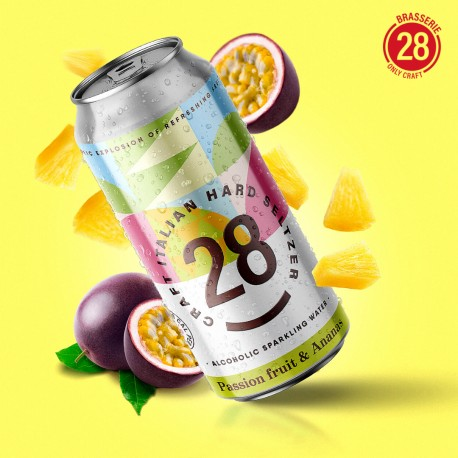 28 Hardseltzer Passion fruit & Ananas